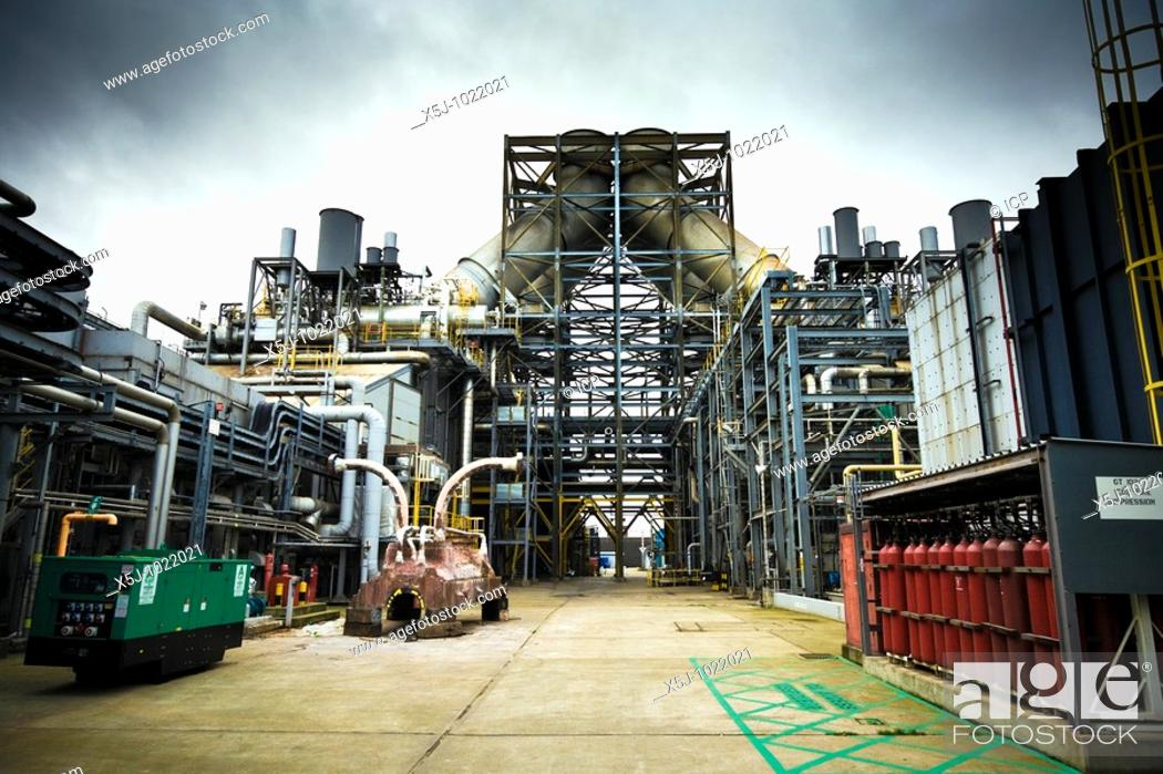 Stock Photo: A modern gas fired power station in Teesside, England, UK.