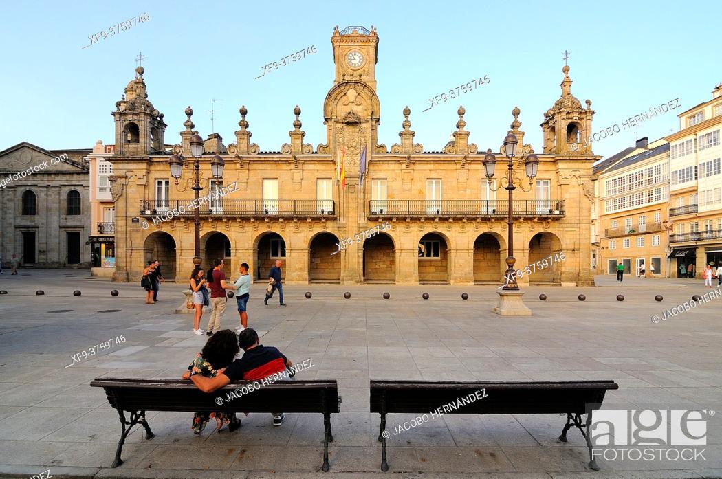 Stock Photo: Town Hall of Lugo. Galicia. Spain.