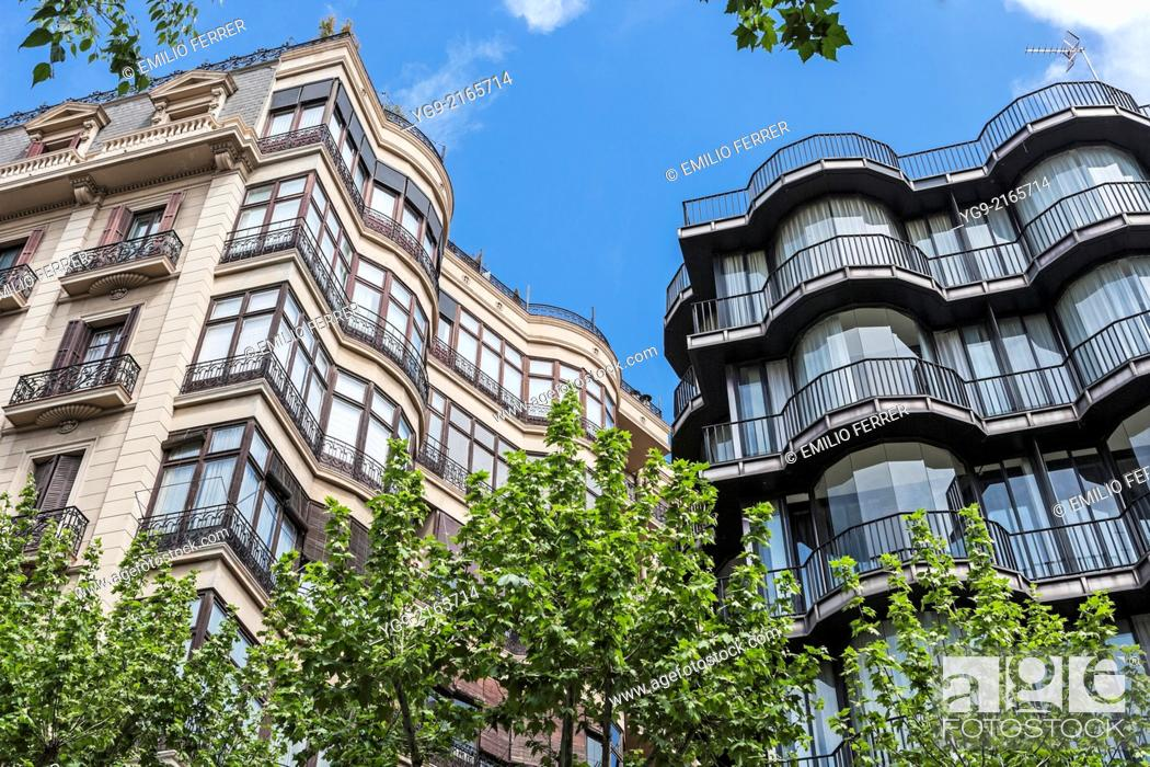Stock Photo: Apartment building in Barcelona. Spain.