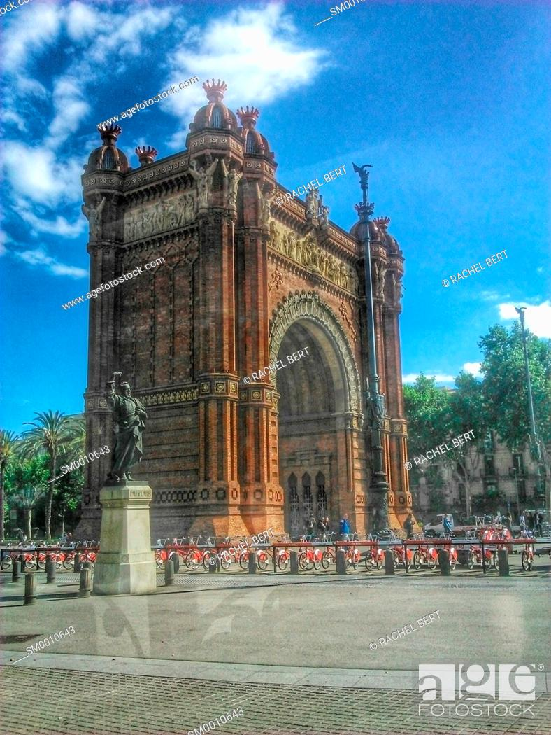 Stock Photo: Arc de Triomf, Barcelona, Catalonia.