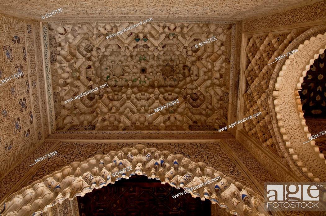 Stock Photo: Granada, Alhambra Nasridenpalast Nasridenpaläste (Palacios Nazaries).