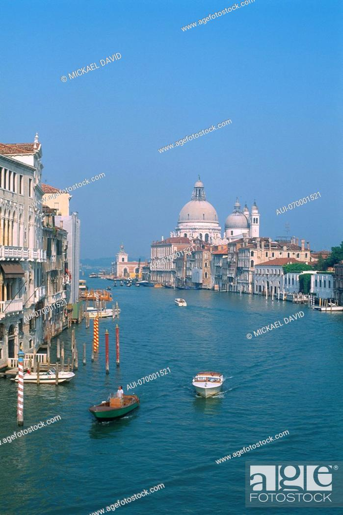 Stock Photo: Italy - Venice - view of the Grand Canal and Santa Maria Della Salute.