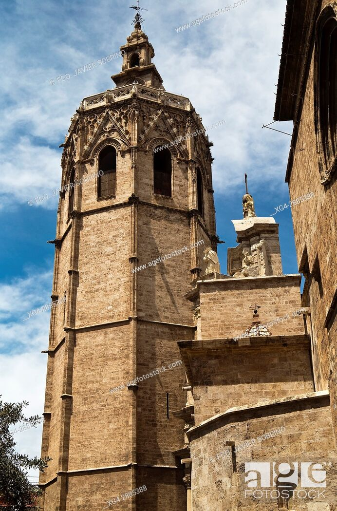 Stock Photo: Torre del Micalet (Bell tower), Valencia Catedral, Valencian Community, Spain.