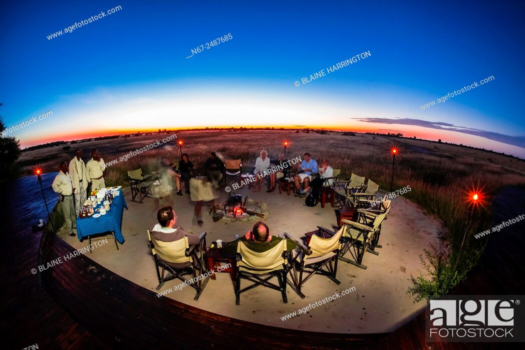 Stock Photo: Nxai Pan Camp, Nxai Pan National Park, Botswana.