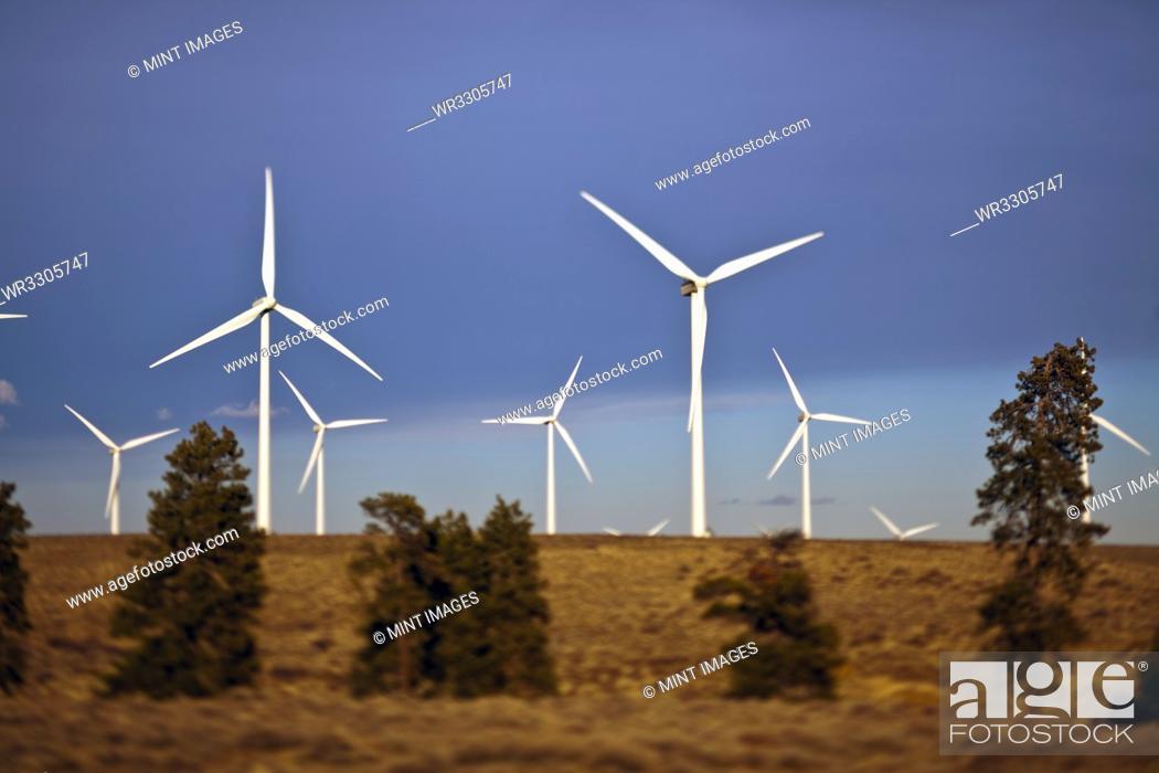Stock Photo: Wind Turbines.