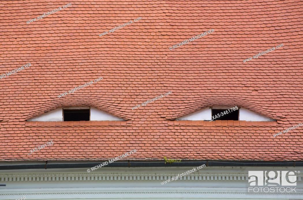 Stock Photo: House with Eyes, Sibiu, Transylvania Region, Romania.