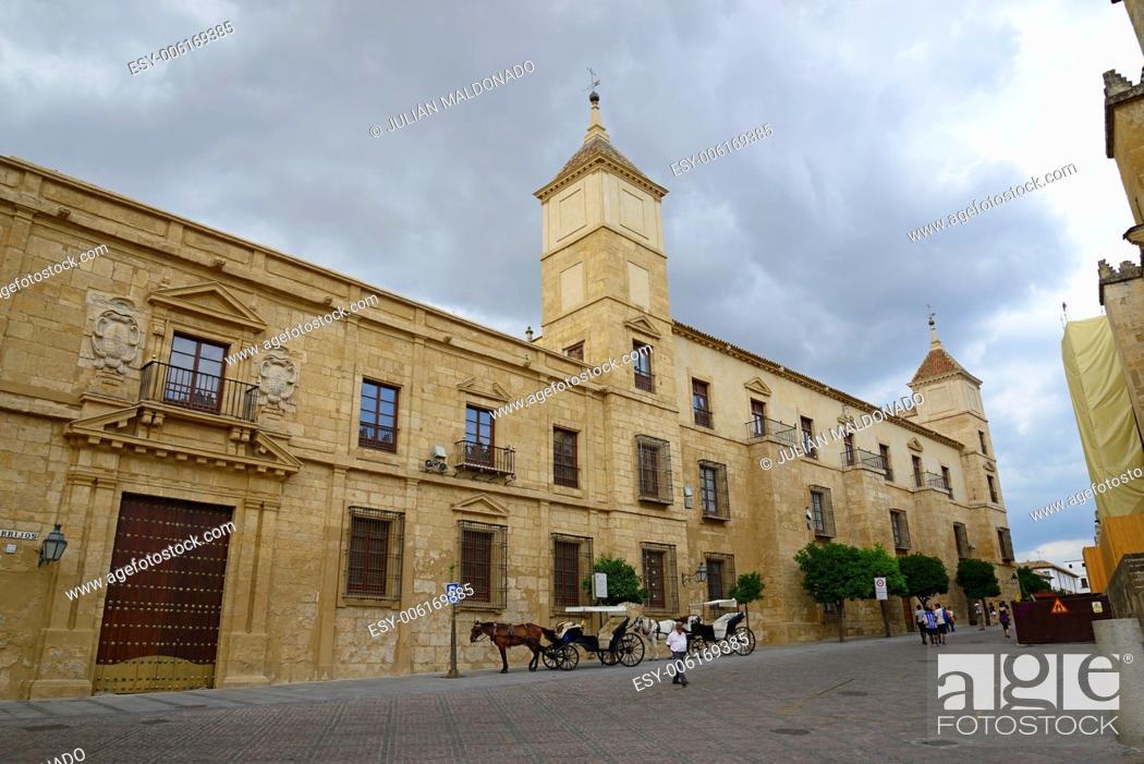 Stock Photo: Home and facade of the Palacio Episcopal de Córdoba, Andalucía, Spain.