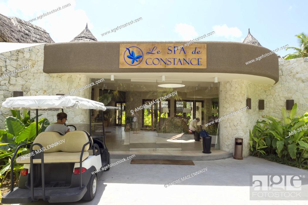 Stock Photo: Le SPA de Constance in Ephelia Resort on the west coast of Mahé island, Seychelles.