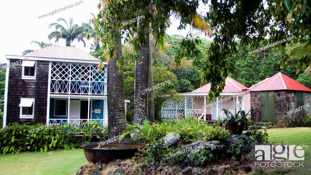Stock Photo: Historic Hermitage Plantation Inn Nevis St Kitts and Nevis Caribbean.