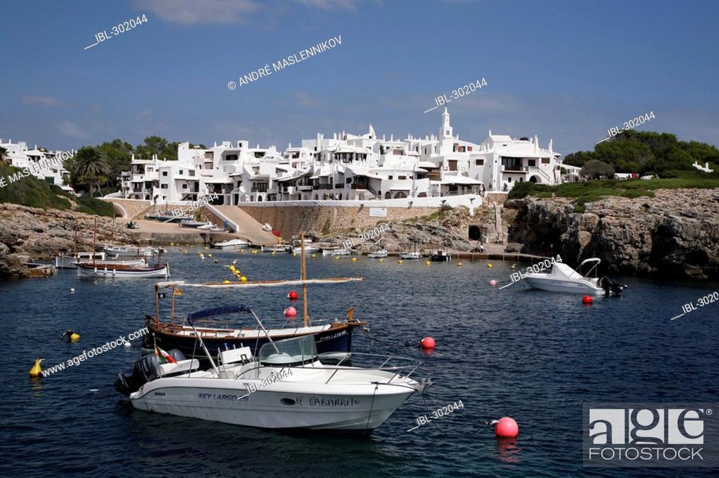Stock Photo: The white quarter, Menorca.