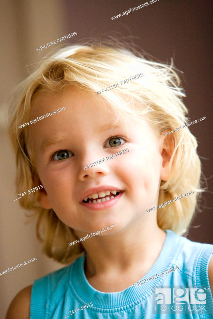 Stock Photo: Portrait of a 4 year old boy.