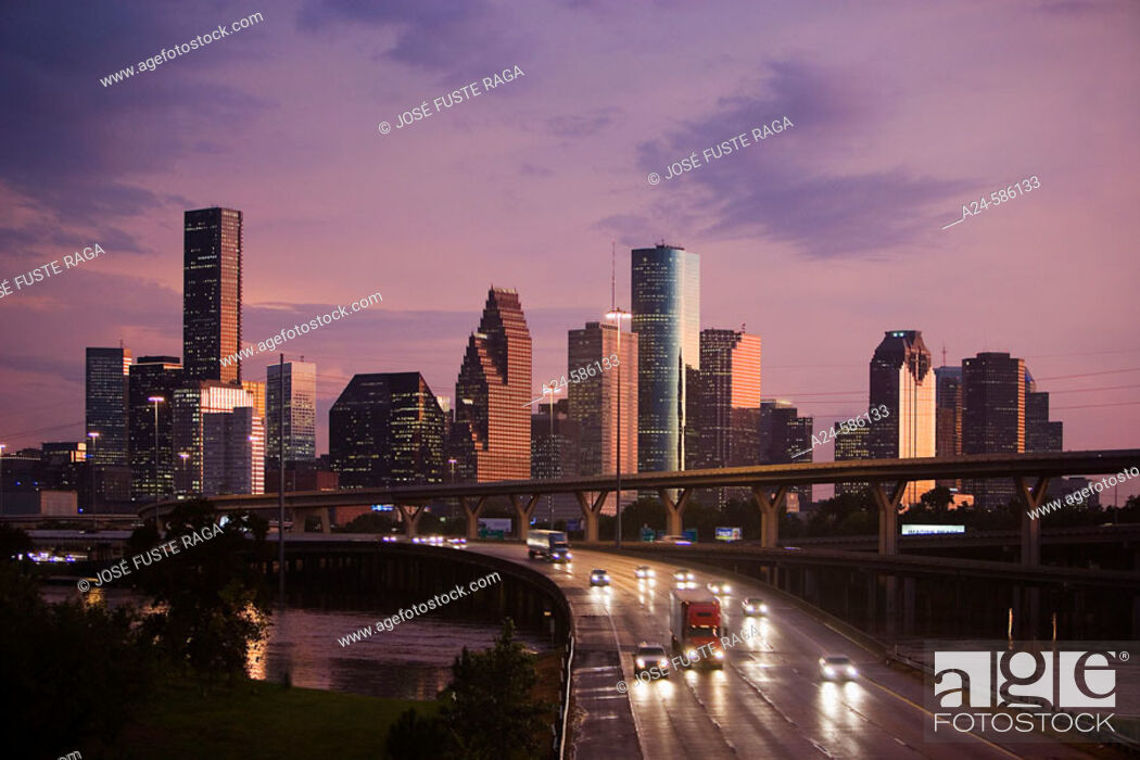 Stock Photo: USA-Oct. 2006, Texas -Houston City, Downtown.