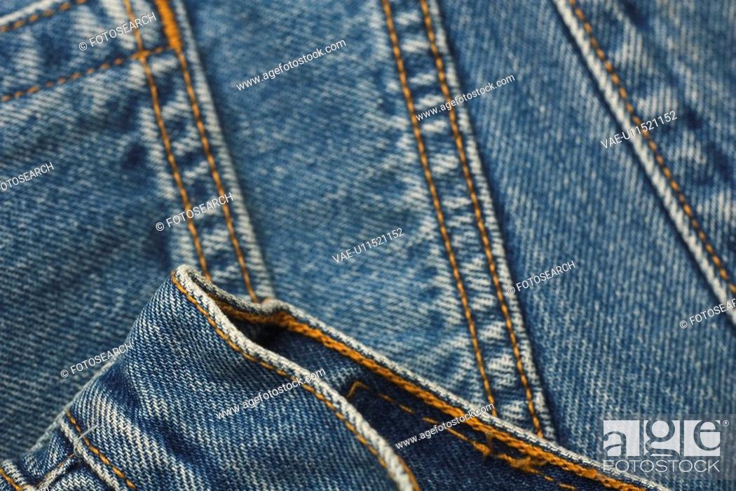 Stock Photo: Blue, Casual Clothing, Close Up, Close-Up, Denim.