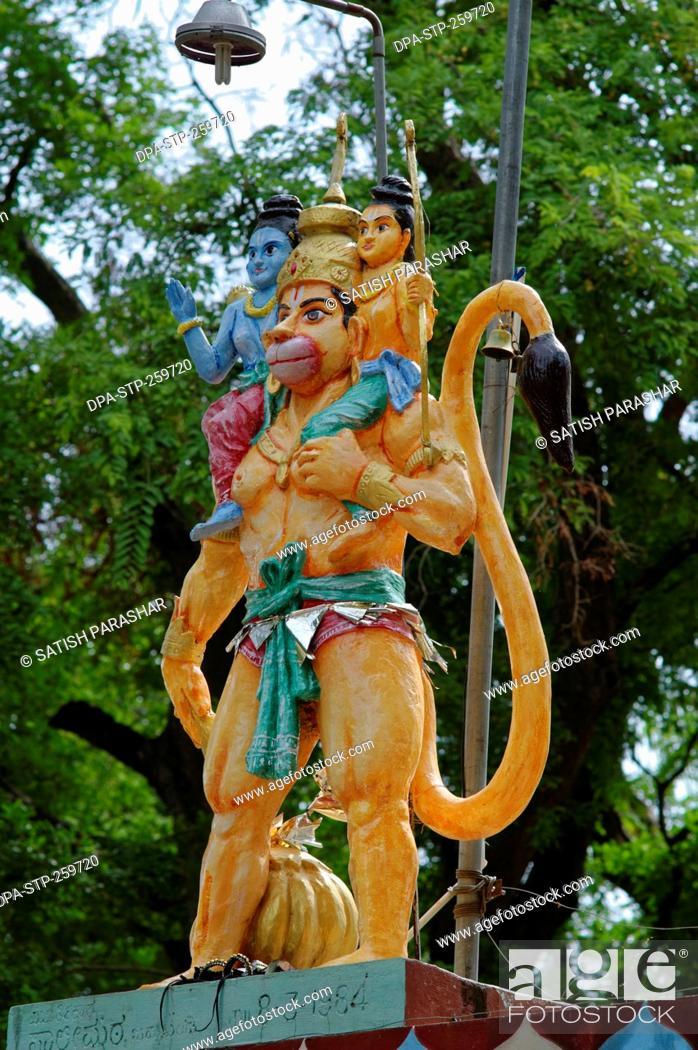 Imagen: hanuman statue, anjaneya temple, belagavi, karnataka, India, Asia.