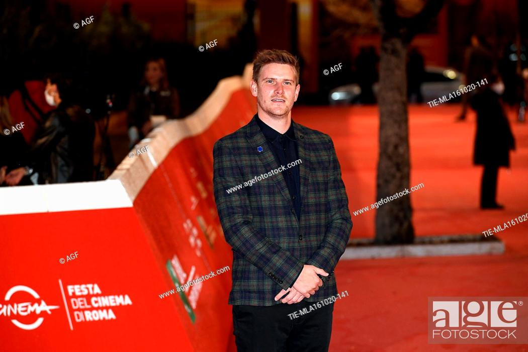 "Stock Photo: Harry Macqueen attends the red carpet of the movie """"Supernova"""" during the 15th Rome Film Festival on October 16, 2020 in Rome, Italy."