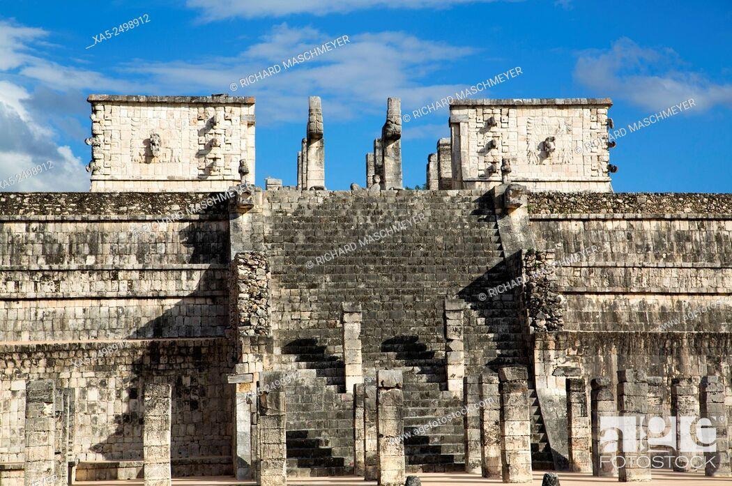 Imagen: Temple of Warriors, Chichen Itza, Yucatan, Mexico.