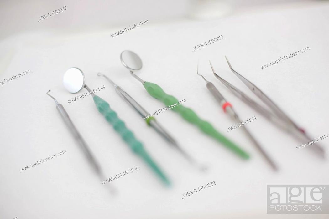 Stock Photo: Germany, Bavaria, Landsberg, Dentist's tools.