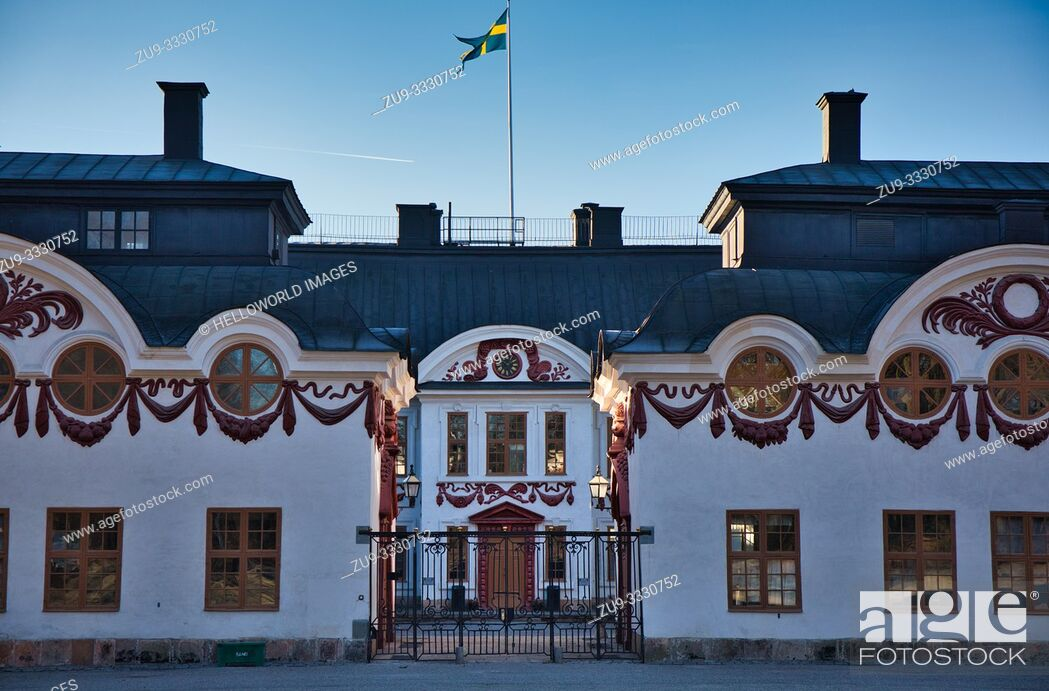 Stock Photo: Karlberg Palace, Solna, Stockholm, Sweden, Scandinavia Construction began in 1634 and was finally completed in 1795. Design and construction was by architects.