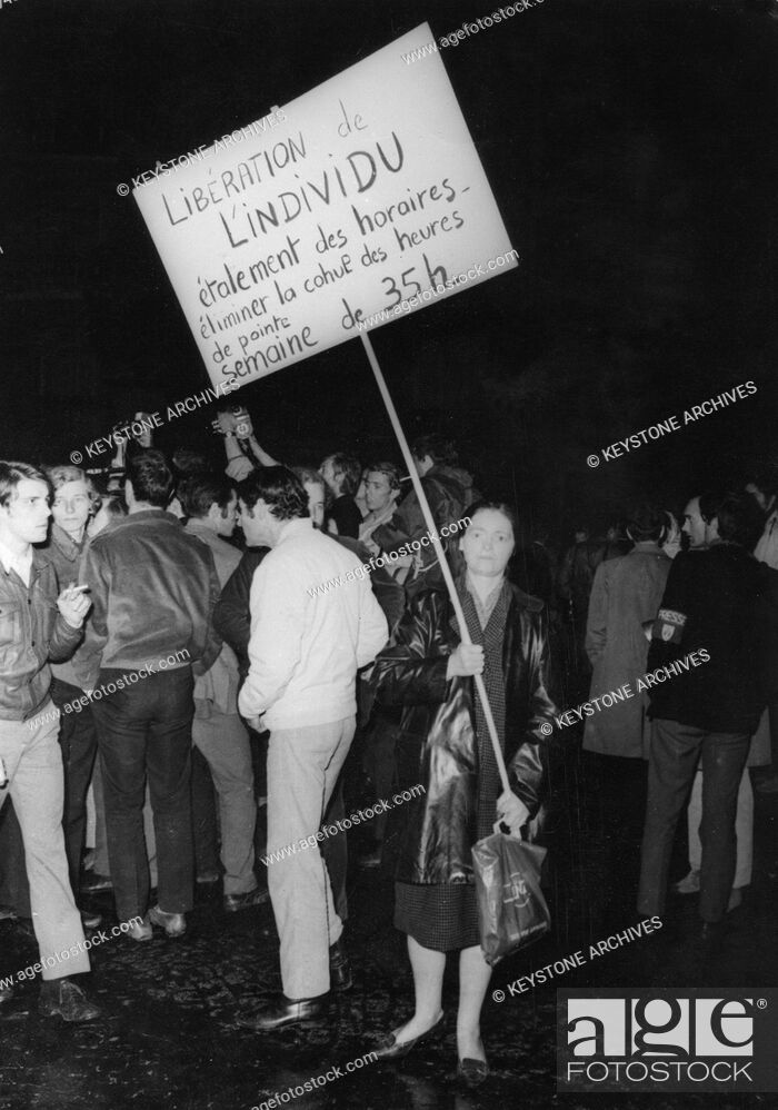 Imagen: Student protesters, Latin Quarter, Paris, May 1968. Widespread protests and riots by students opposed to the policies of the government of President De Gaulle.
