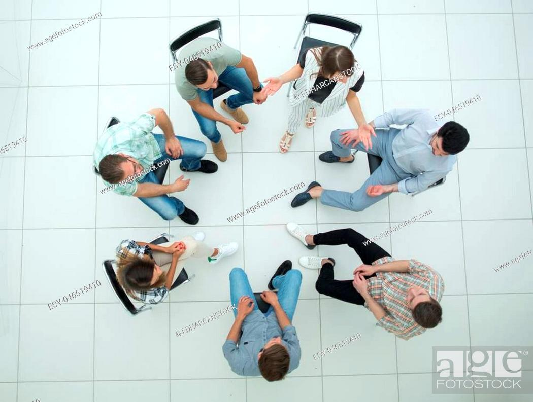 Photo de stock: top view. a team of successful young employees.business concept.