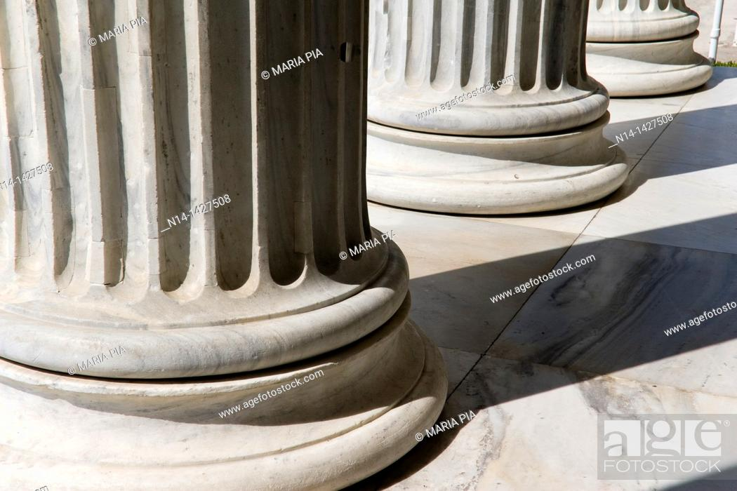Stock Photo: Column's detail from The Zappeion, Athens, Greece.