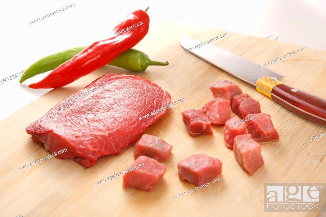 Stock Photo: Fresh meat.