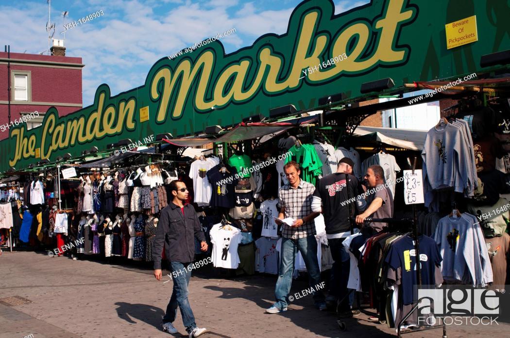 Photo de stock: Camden Market  London.