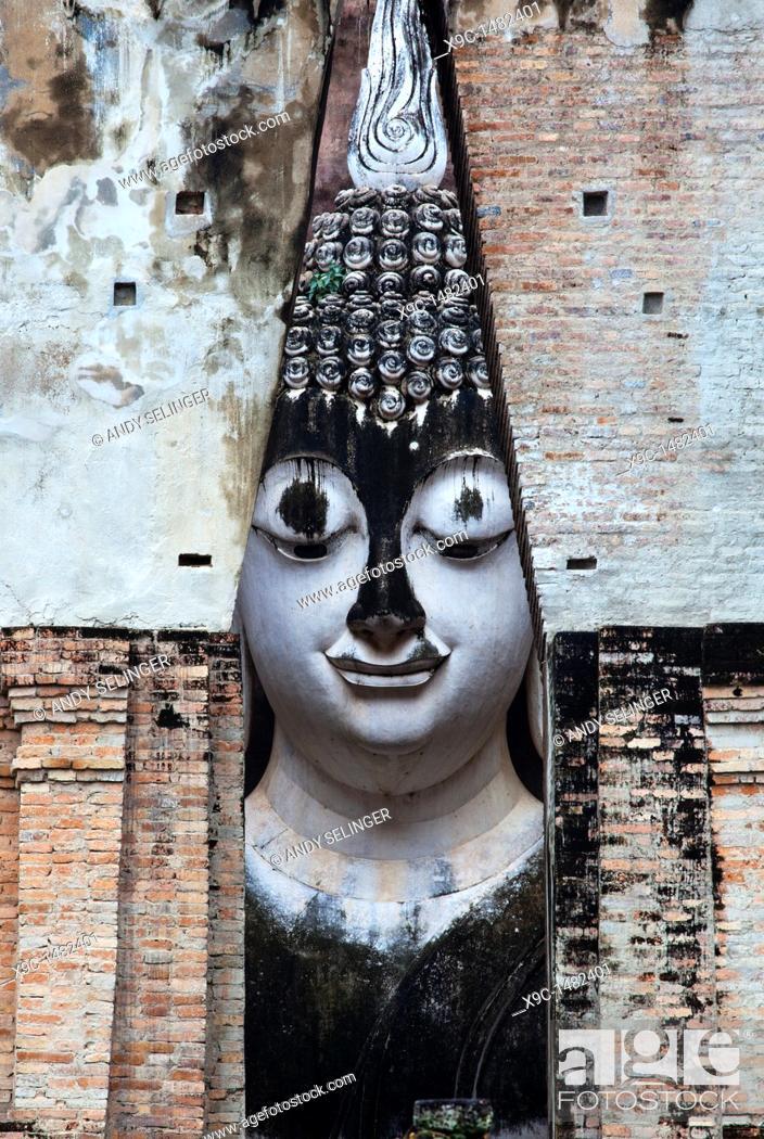 Stock Photo: Wat Si Chum, Sukhothai, Thailand.