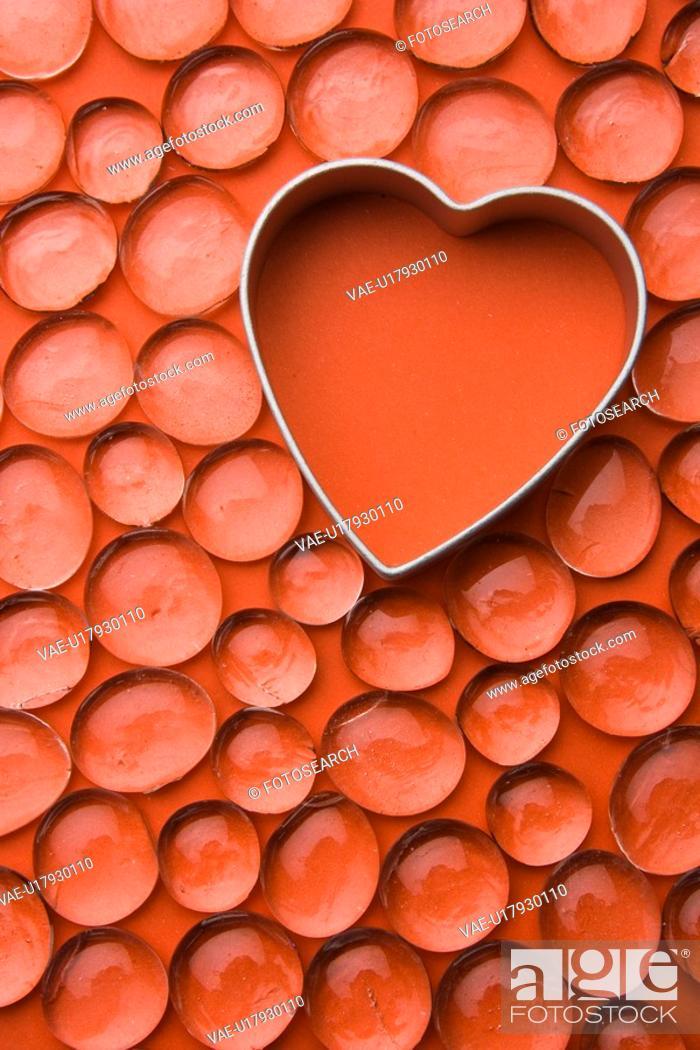 Stock Photo: Close-Up, Full Frame, Gem, Heart Shape, Indoors.