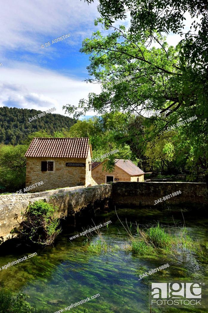 Stock Photo: Mills, Skradinski Buk, Krka National Park, Croatia.