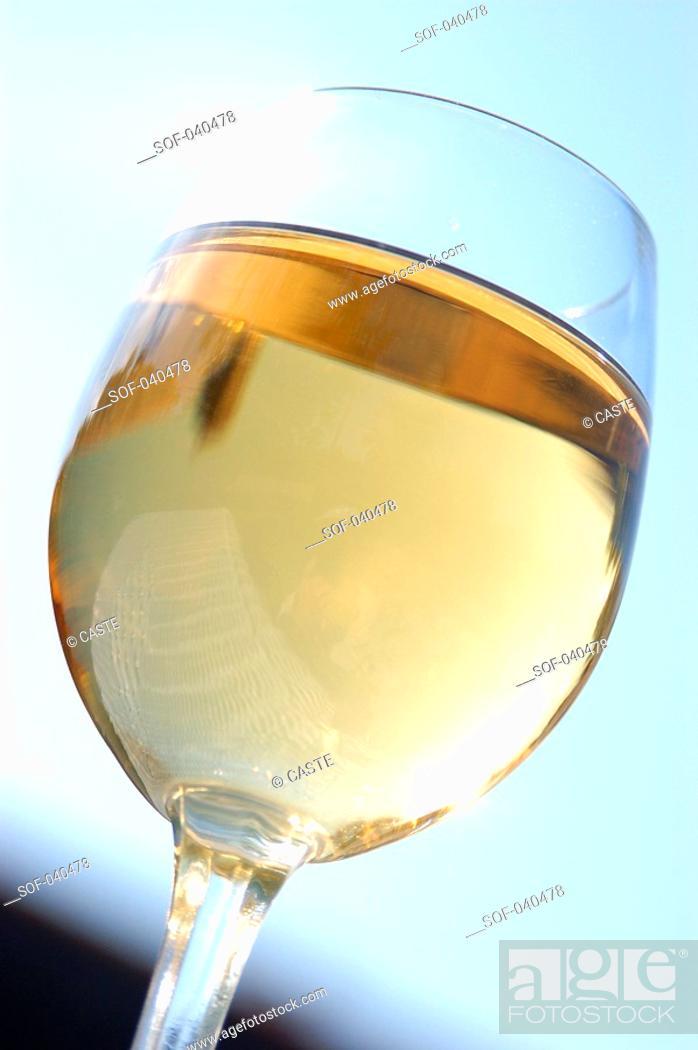 Stock Photo: glass of white wine.