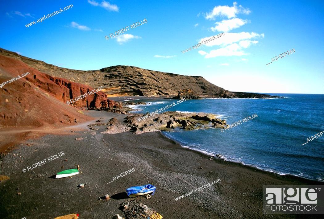 Stock Photo: Spain - Canary Islands - Lanzarote - El Golfo.
