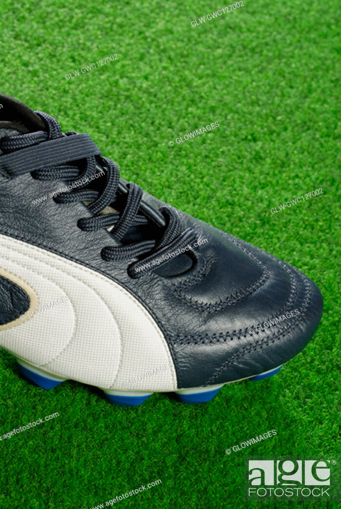 Stock Photo: Close-up of a soccer shoe.