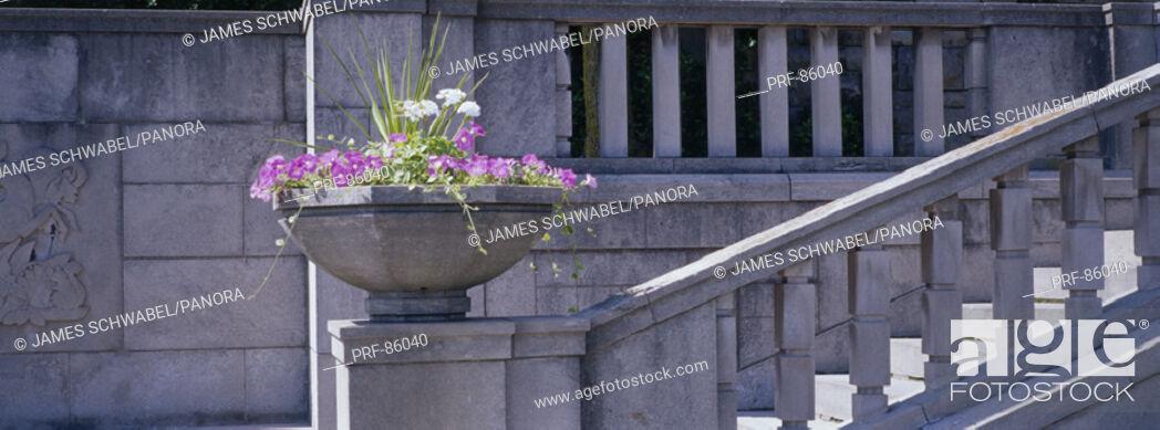 Stock Photo: Garden Stairs Niagara Parks Botanical Gardens Ontario Canada.