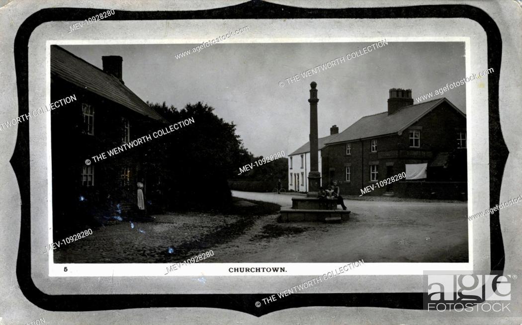 Stock Photo: The Village, Churchtown, Garstang, near Preston, Lancashire, England.