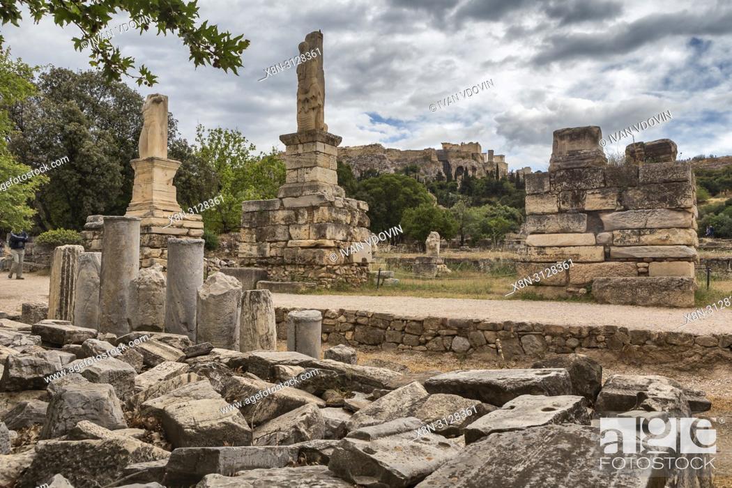 Stock Photo: Ancient Agora, Athens, Greece.