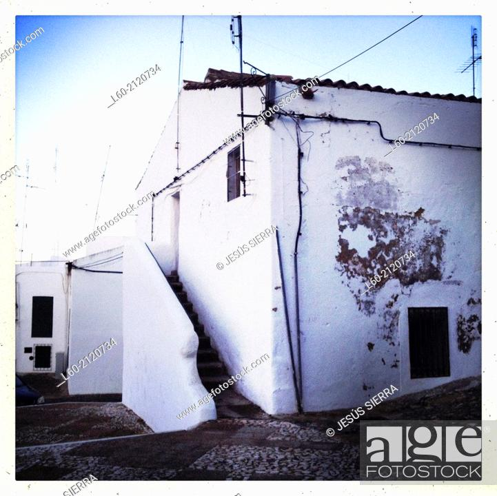 Stock Photo: Houses in Campo Maior, Alentejo, Portugal.