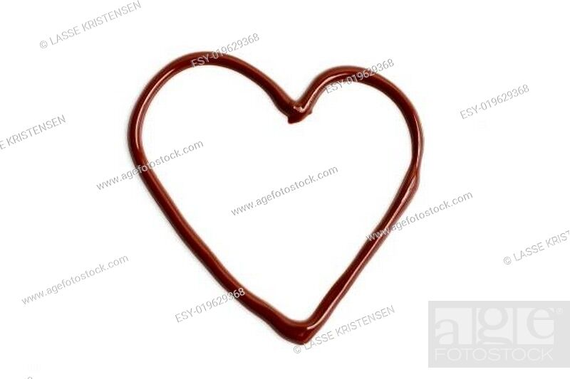 Stock Photo: Chocolate heart.
