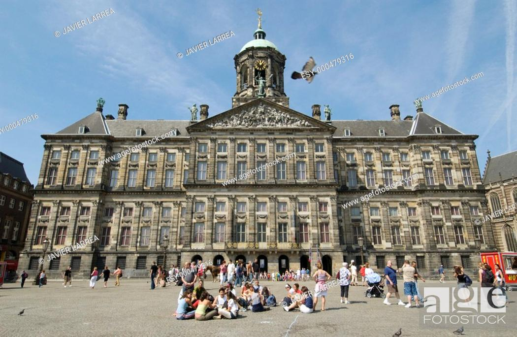 Stock Photo: Koninklijk Paleis (Royal Palace), Dam Square. Amsterdam. Netherlands.
