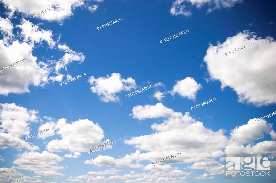 Stock Photo: Blue Sky, Clouds, Milieu, Nature.