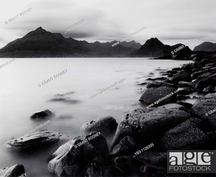 Stock Photo: The Cuillin Mountains , Isle of Skye , Scotland.