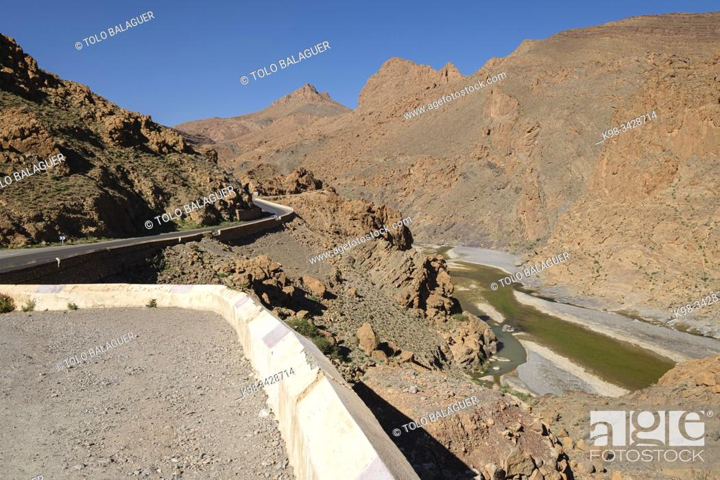 Imagen: gargantas del Ziz, valle del río Ziz, Marruecos, Africa.