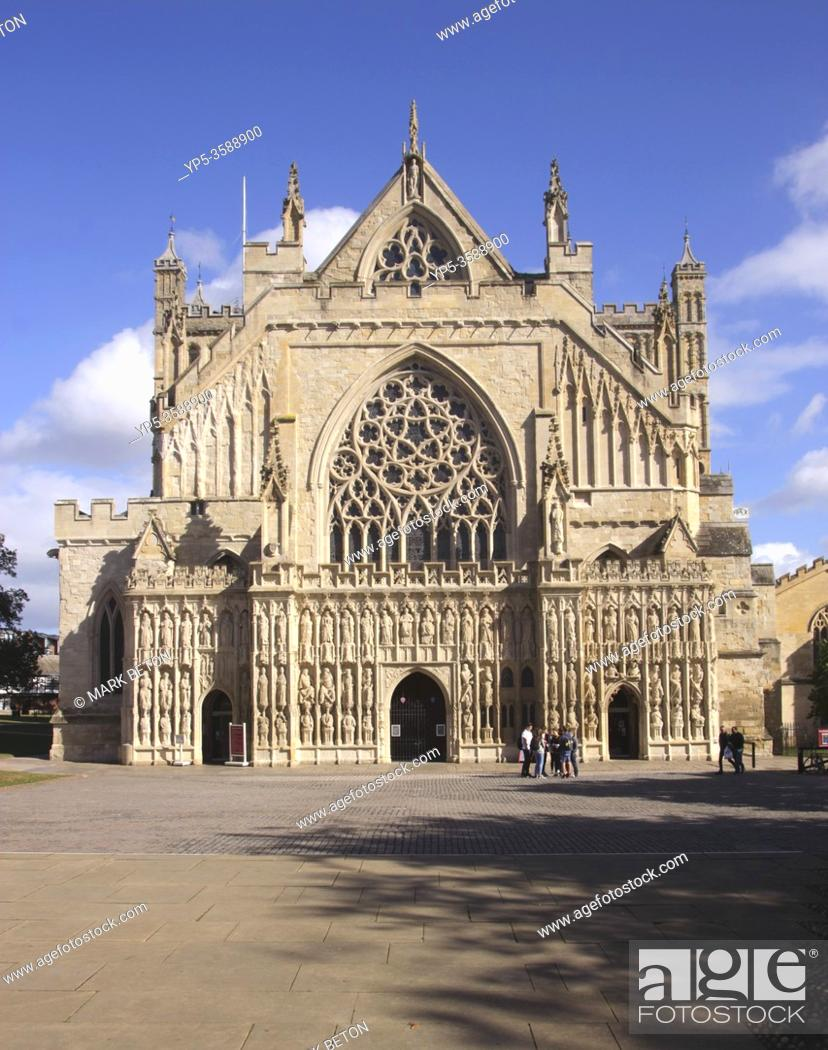 Stock Photo: Exeter Cathedral Devon England.