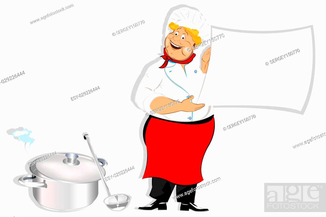 Stock Photo: Chef and fresh healthy food for Gourmet.