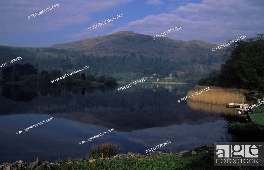 Stock Photo: england lake district grasmere landscape view.