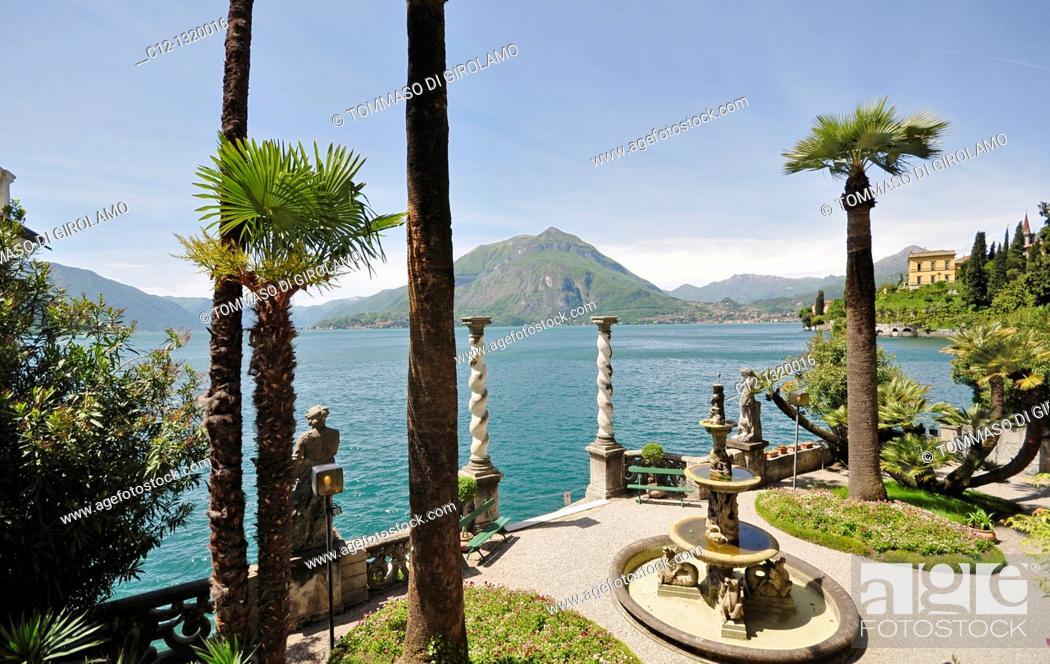 Stock Photo: Villa Monastero, Varenna, Lago di Como, Italy.
