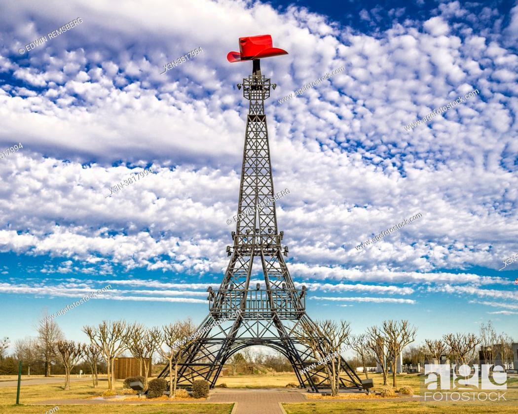Stock Photo: Paris Texas Eiffel Tower landmark, Paris, TX.