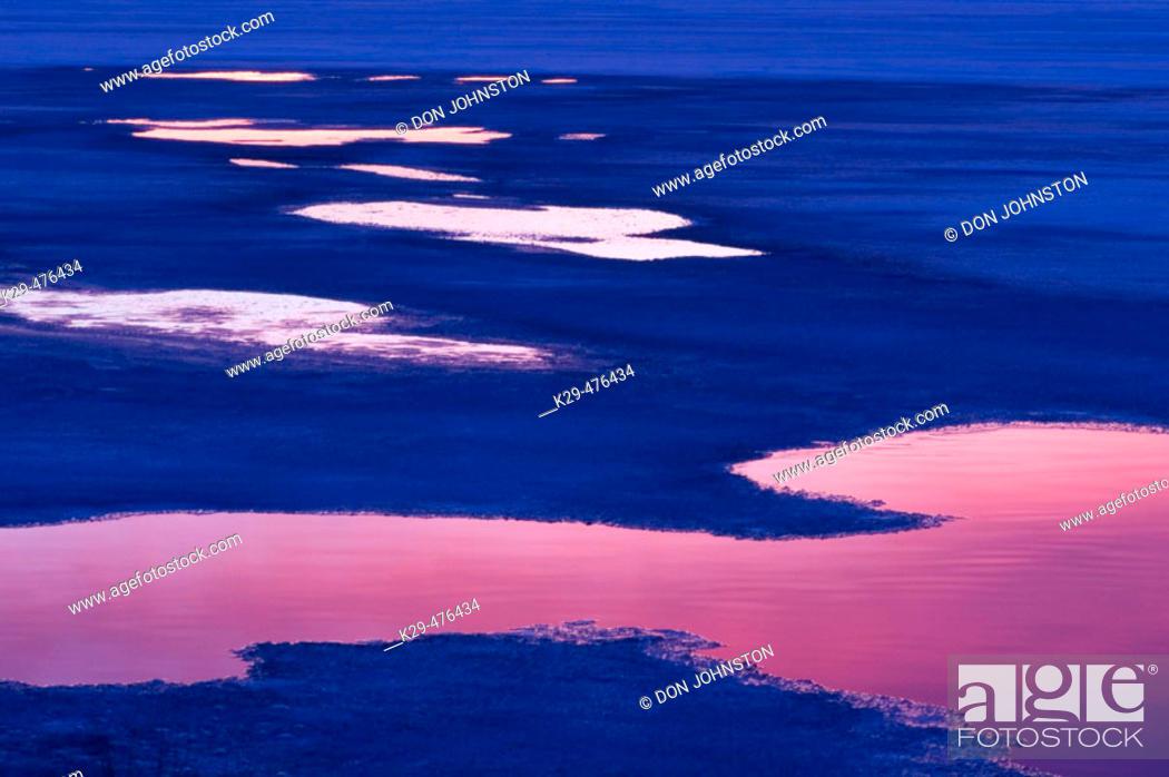 Stock Photo: Spring breakup on Robinson Lake. Sudbury. Ontario, Canada.