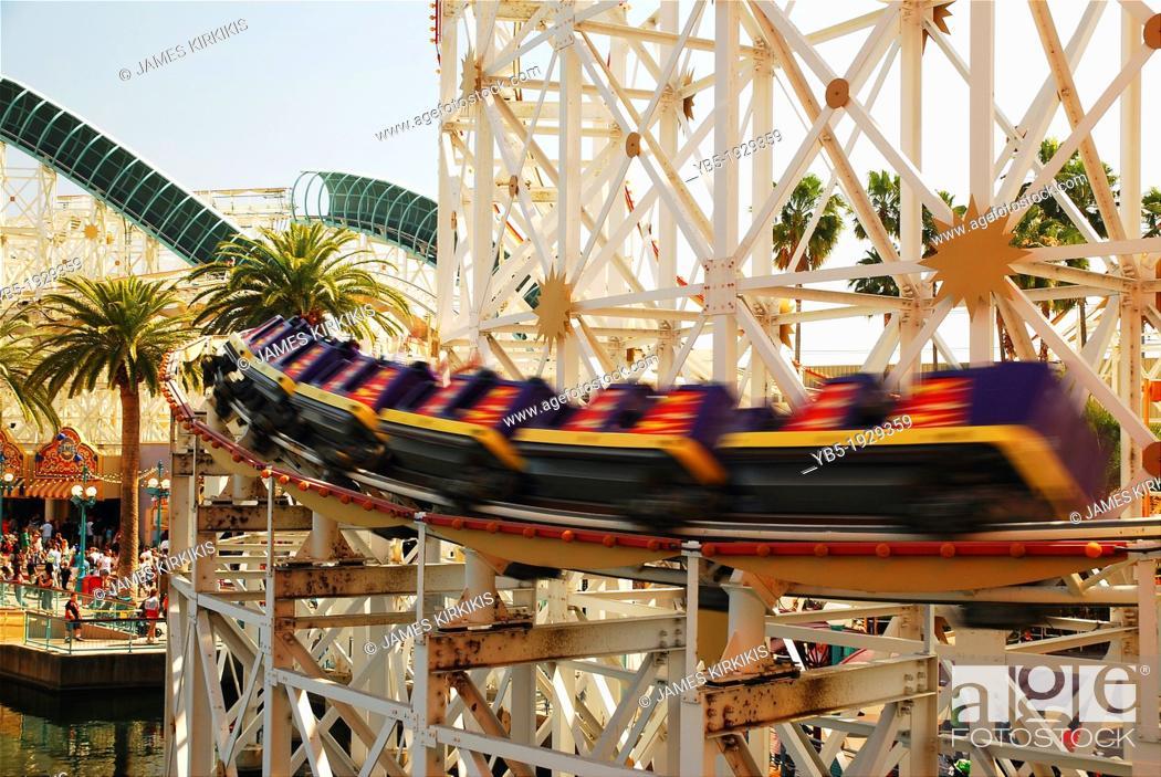 Stock Photo: Speeding Coaster.