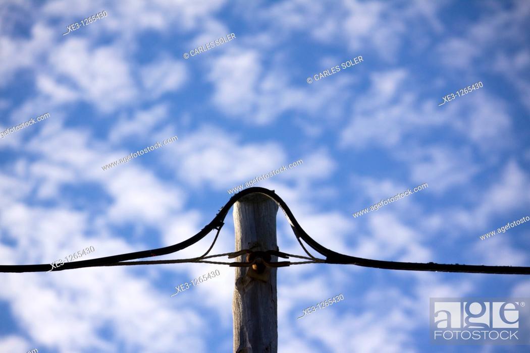 Stock Photo: Poste eléctrico.